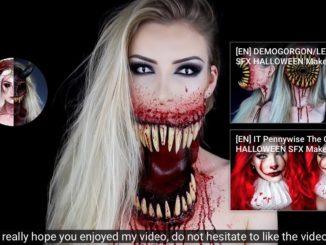 halloween maquillage - make up- tutoriels- youtube-vivretrans-vt