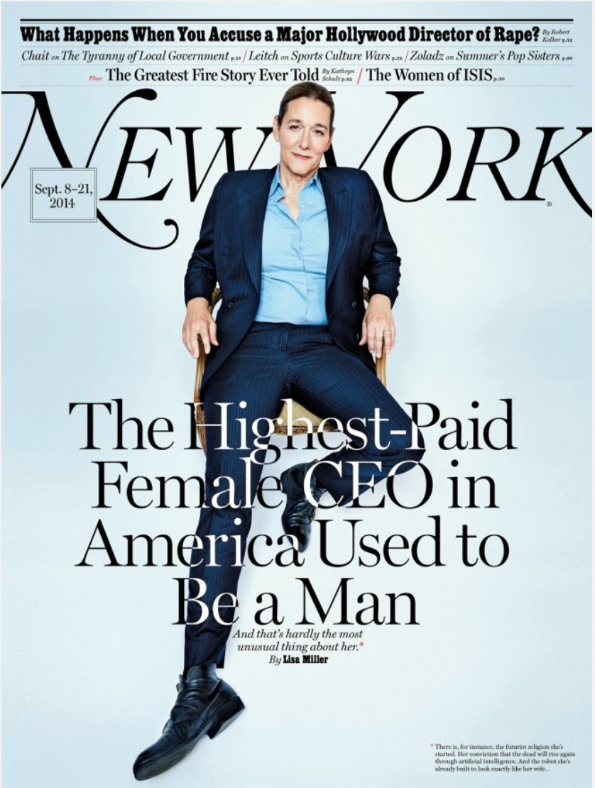 Vivre trans - Martine Rothblatt, femme d'affaires© New York Magazine 2014